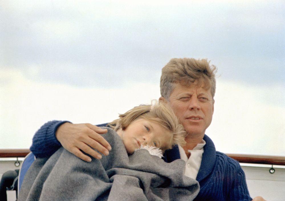 JFK and Caroline Kennedy