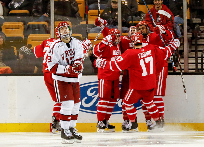 Just thirty seconds into the middle frame, BU notched its second goal of the game, off the stick of captain Brandon Hickey.