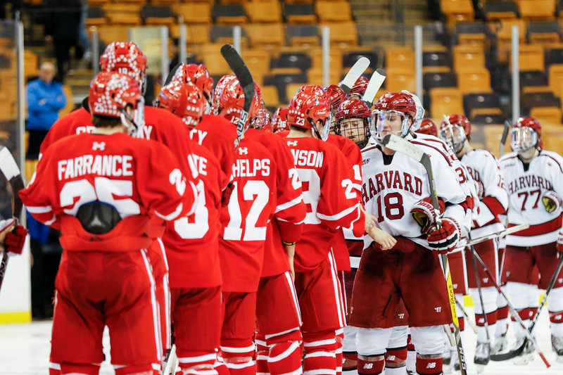 In a thrilling double overtime rematch of last year's Beanpot final, the Crimson tossed 49 shots at BU's net but ultimately fell, 3-2.