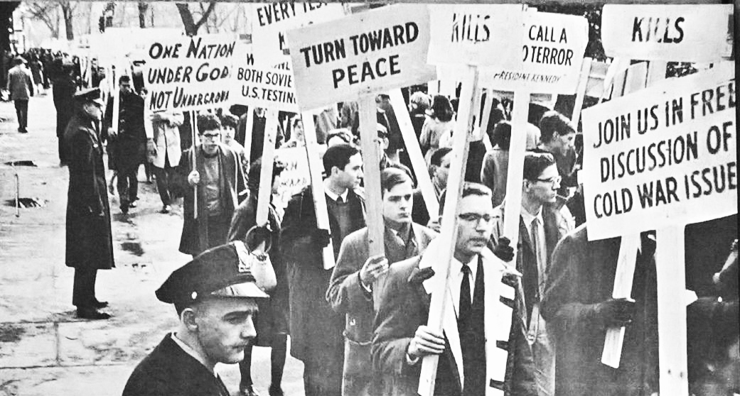 On the cover of 'The Tocsin' following the 1962 Project Washington march.