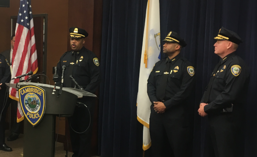 Police Commissioner Branville G. Bard Jr. defended the officers involved in the Friday arrest of a Harvard undergraduate at a press conference Monday afternoon.