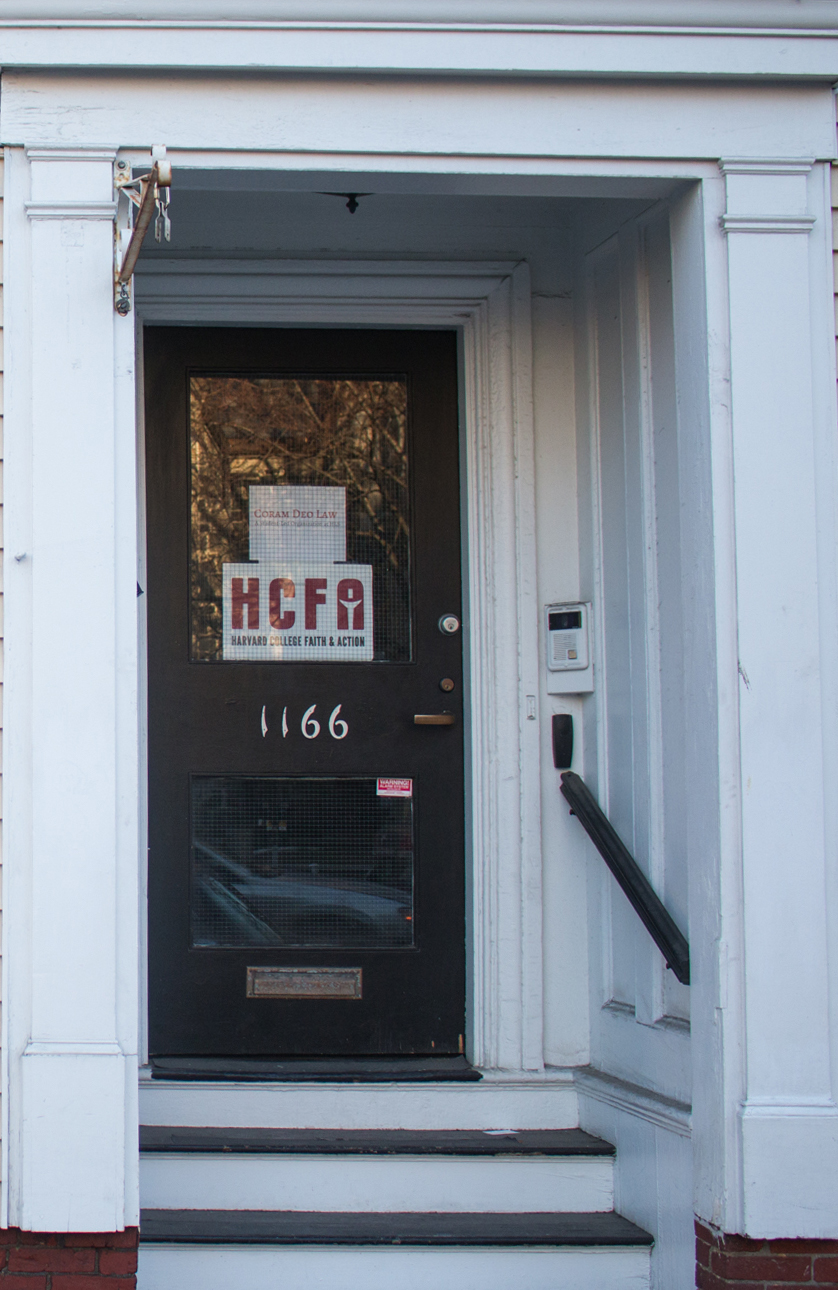 Harvard College Faith and Action occupies offices in a building on Massachusetts Avenue near Harvard Yard.
