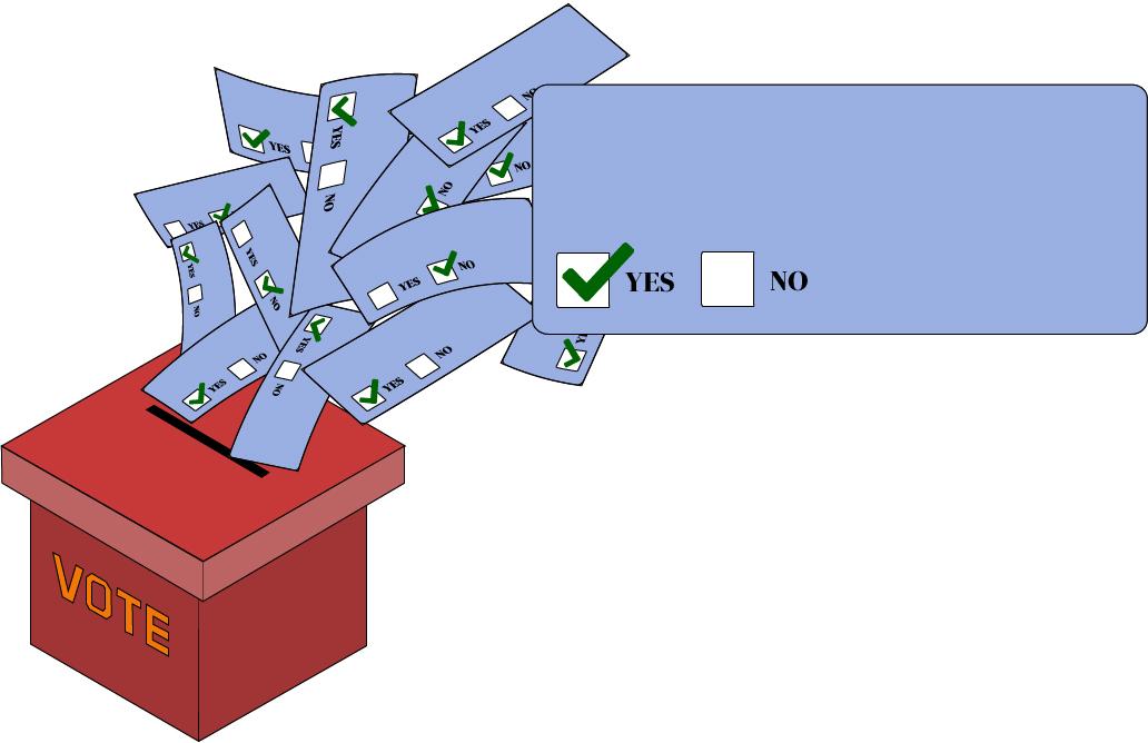 Unionization Ballot Box Illustration