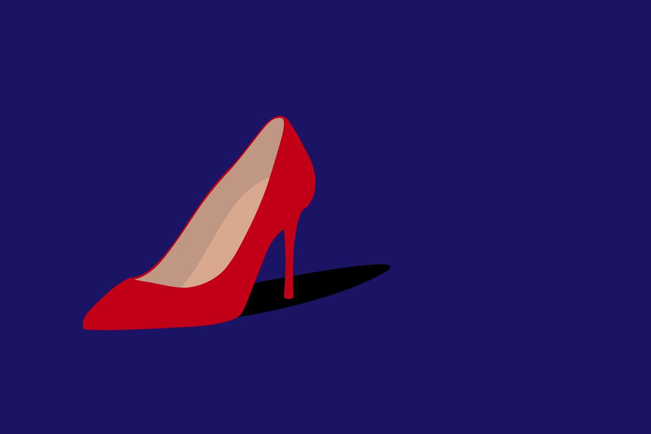 Illustration of Cardi B's shoe.