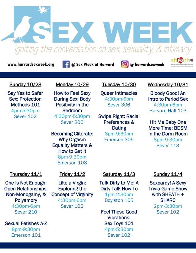 Sex Week 2018 2