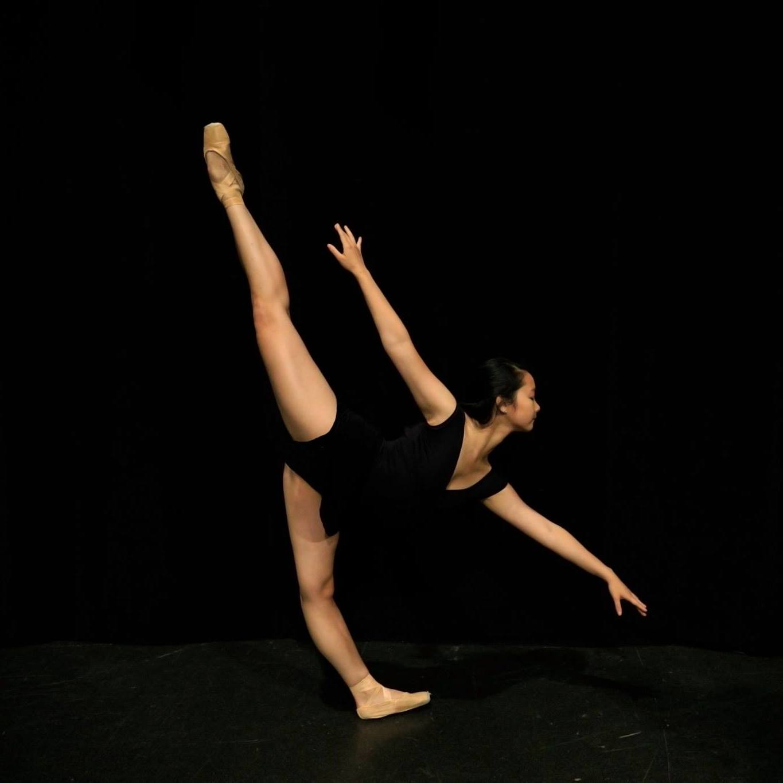 """Still of dancer Isabel Wu '20 in """"on quarter."""""""