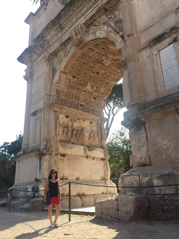 Carmen feels right at home among Roman ruins.