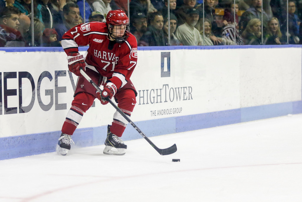 Despite taking a punishing hit the day before against Yale, Frédéric Grégoire played a full game and notched the Crimson's go-ahead goal on Saturday.