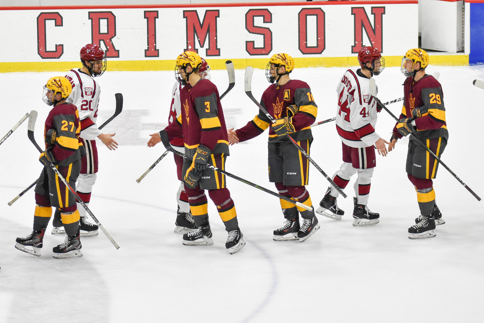While coach Donato's squad realizes it squandered a chance at a four-point weekend, it showed that it can skate with ranked opponents by taking a game from No. 18 Arizona St.