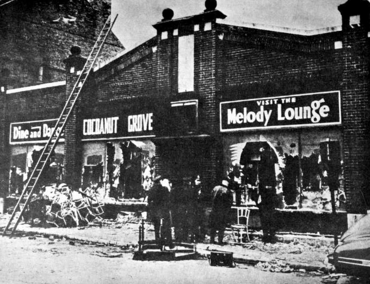 A view of the Melody Lounge, located in the basement of the Cocoanut Grove nightclub.