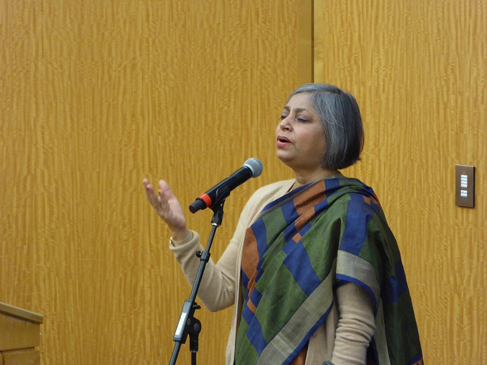 Sarvani Gooptu performed Dwijendralal Roy's songs from his play Shah Jahan at CGIS South Thursday evening.