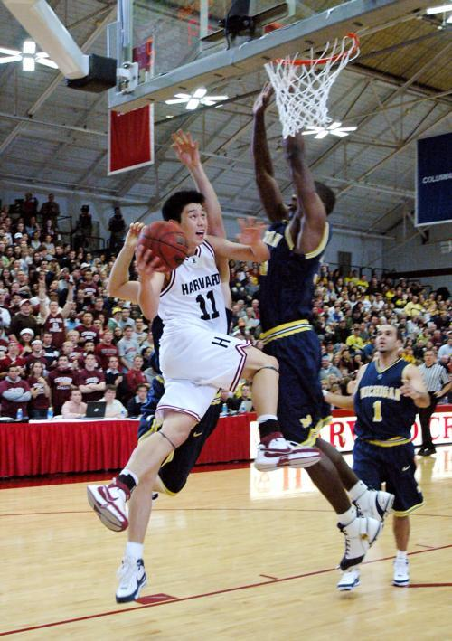 Jeremy Lin '10 goes for the layup during a game in December of 2007 against Michigan.