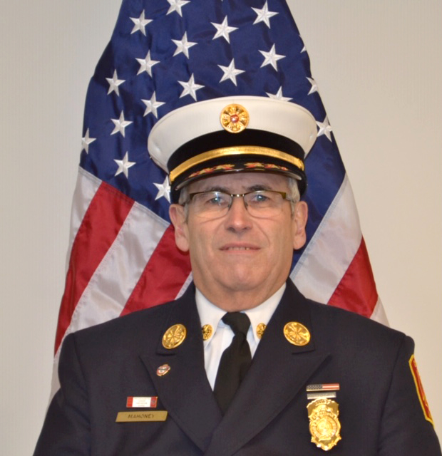 """Gerard E. """"Gerry"""" Mahoney is the acting Chief of Cambridge's fire department."""