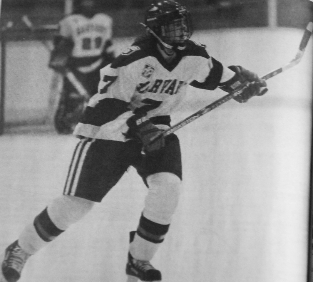 Forward Jennifer Botterill glides across the ice during a game in the 1999 season.