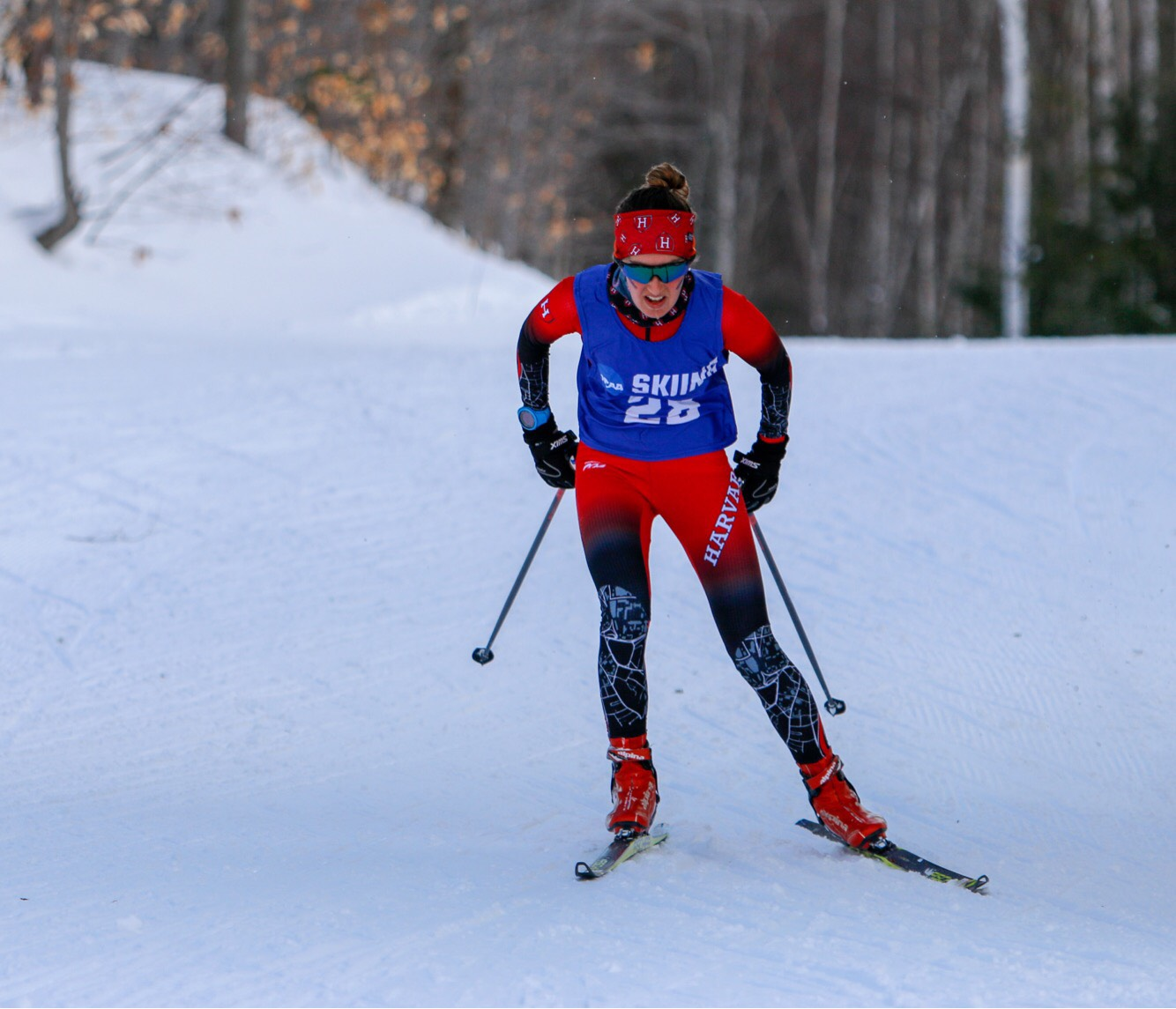 Senior nordic champion Lily Koffman makes her way through the course at EISA championships in February.