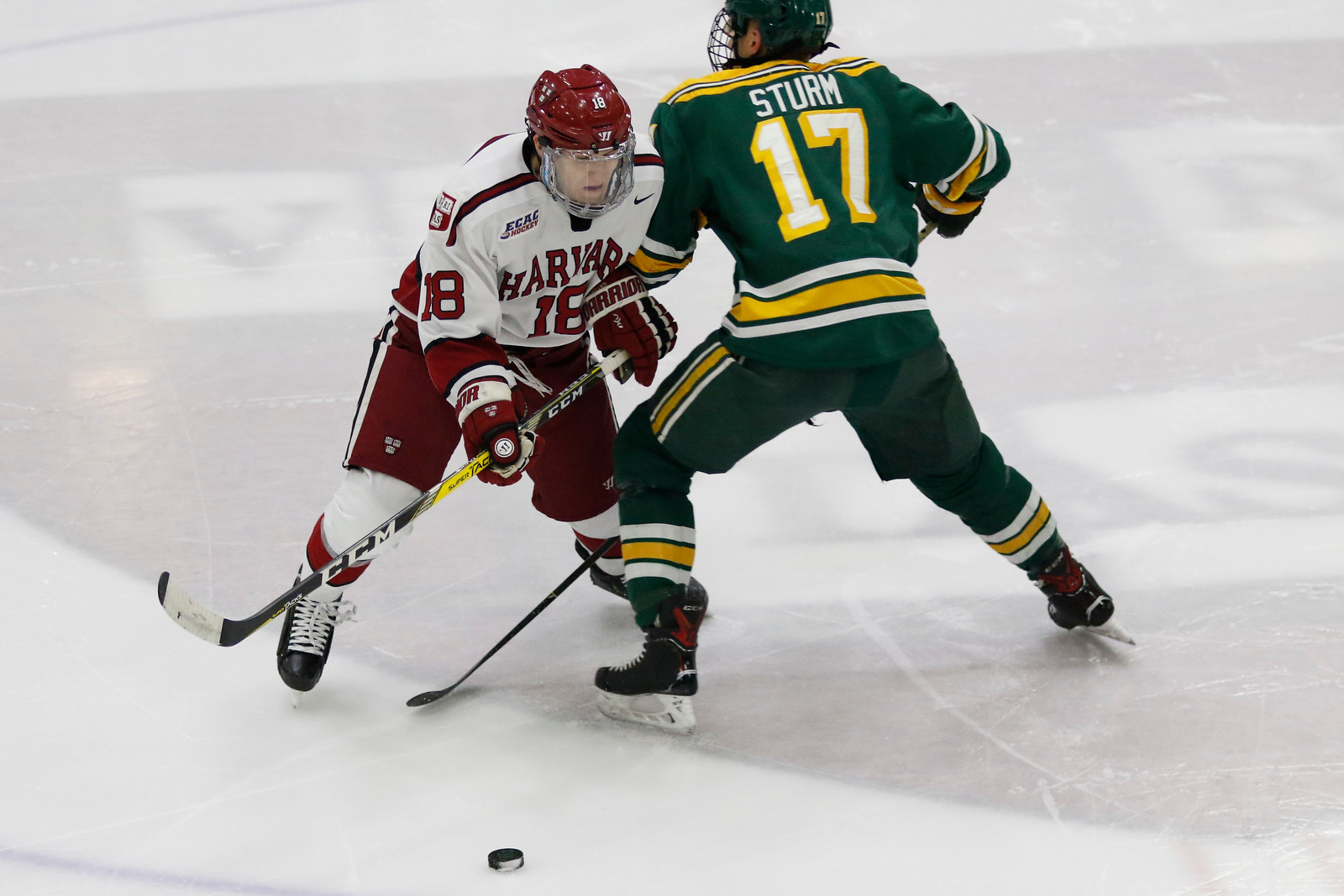 Harvard's Adam Fox and Clarkson's Nico Sturm were both named finalists for the ECAC Player of the Year and will square off on Friday night.