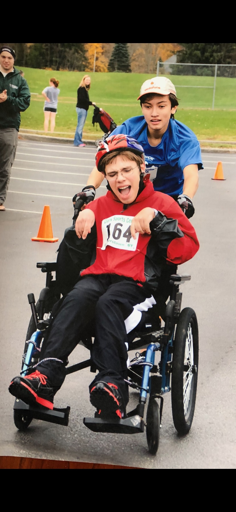 Jacob Russell '19 and his lifelong friend Patrick Dewey will run the Boston Marathon as a tandem on Monday.