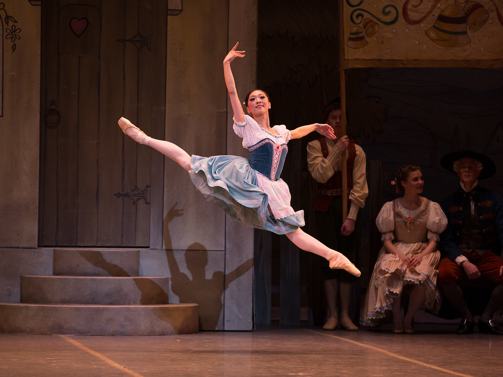 Misa Kuranaga wears an 1800s style dress in George Balanchine's Coppélia, 2019.