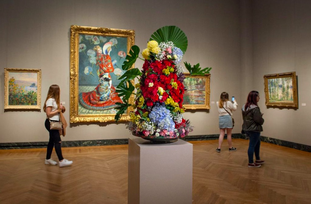 Massachusetts garden clubs created floral designs to match artwork at the MFA's Art in Bloom weekend.