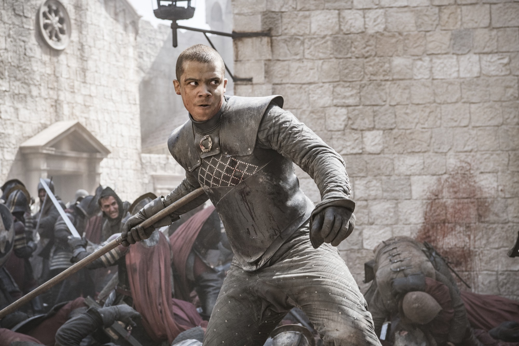 "Jacob Anderson in the fifth episode of the final season of ""Game of Thrones."""