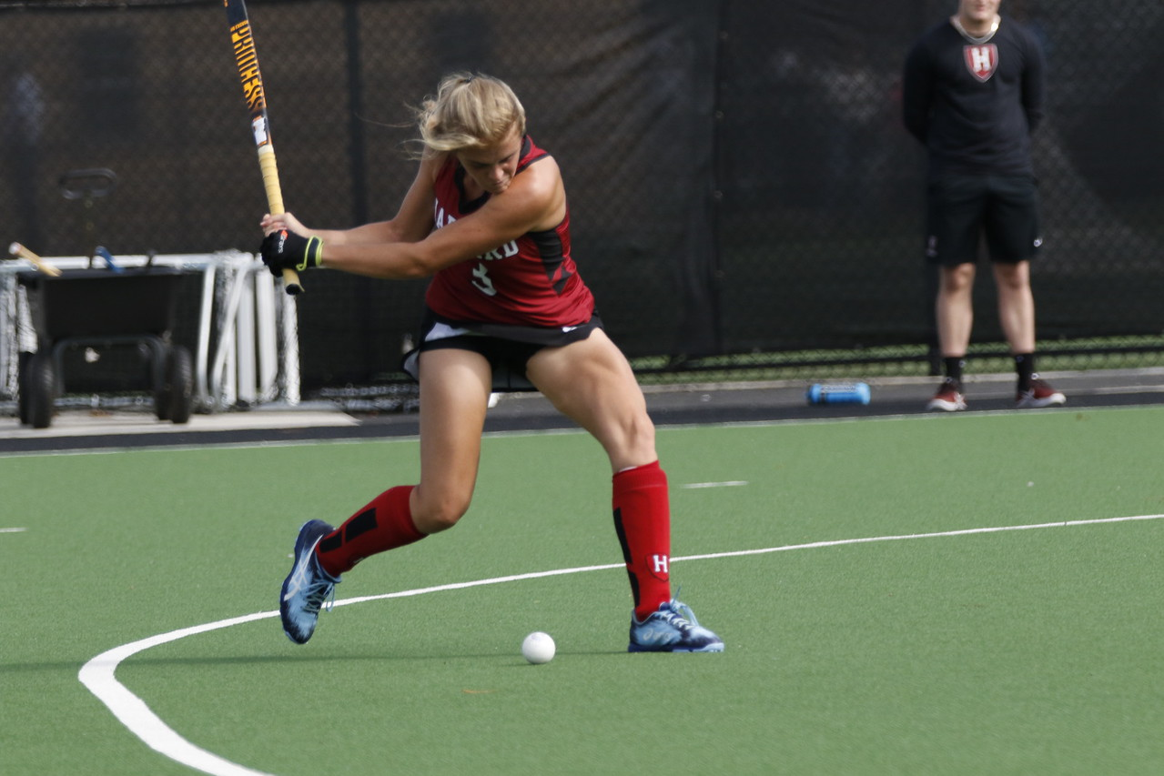 Junior Hannah Pearce notched Harvard's winning score in overtime against Albany.