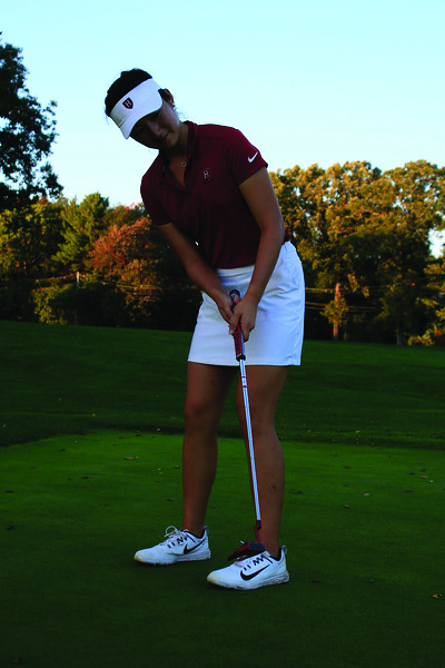 Sophomore Anina Ku was the standout from the women's golf team at last fall's Stanford Invitational.