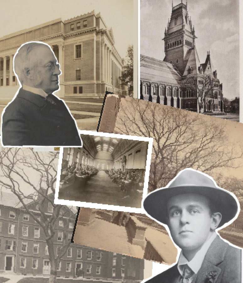 Collage of Harvard at the turn of the 20th century.
