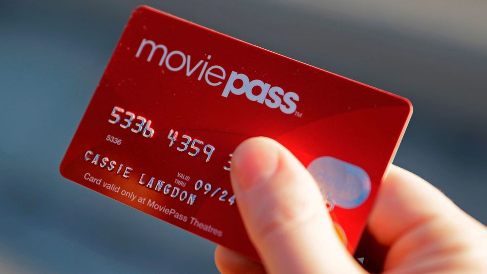 """The MoviePass card allowed users to """"buy"""" one movie ticket per day, at only $10/month."""