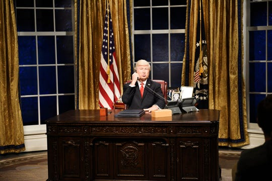 Alec Baldwin as Donald Trump during SNL's opening sketch about impeachment on Sept. 28, 2019.