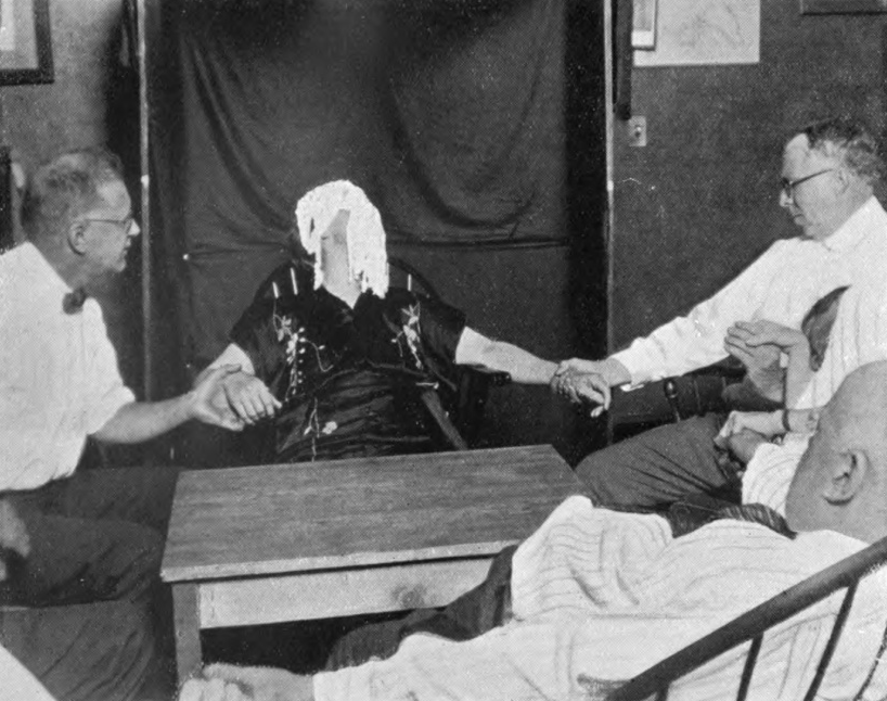 The Harvard group of psychical researchers held a series of sessions with alleged psychic Margery Crandon over the years.