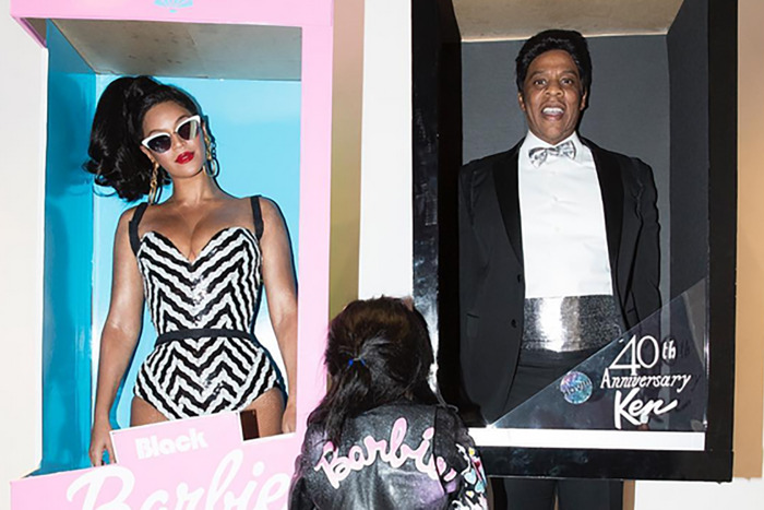 Beyoncé, Jay Z, and Blue Ivy Dressed Up As A Barbie Family