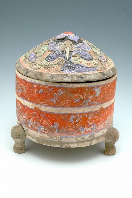Cylindrical tripod Zun wine container, Chinese, Han dynasty, 2nd – 1st century BC.