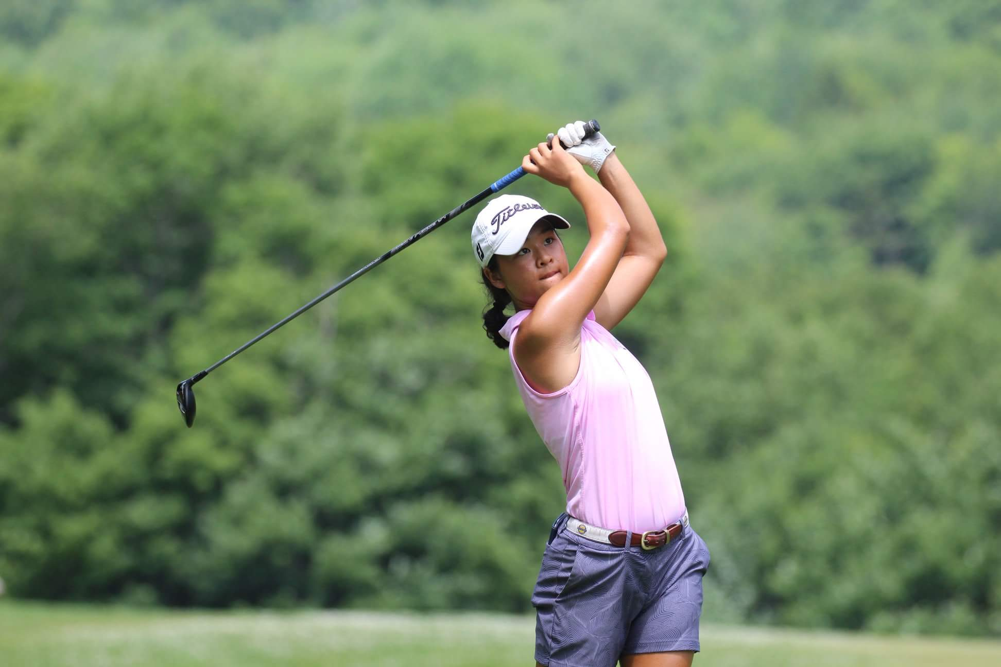 First-year Meiyi Yan was a competitive figure skater for much of her childhood before making the switch to golf.