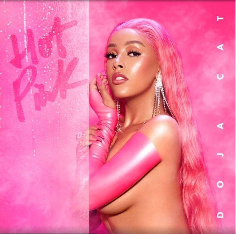 "Album art for Doja Cat's ""Hot Pink."""