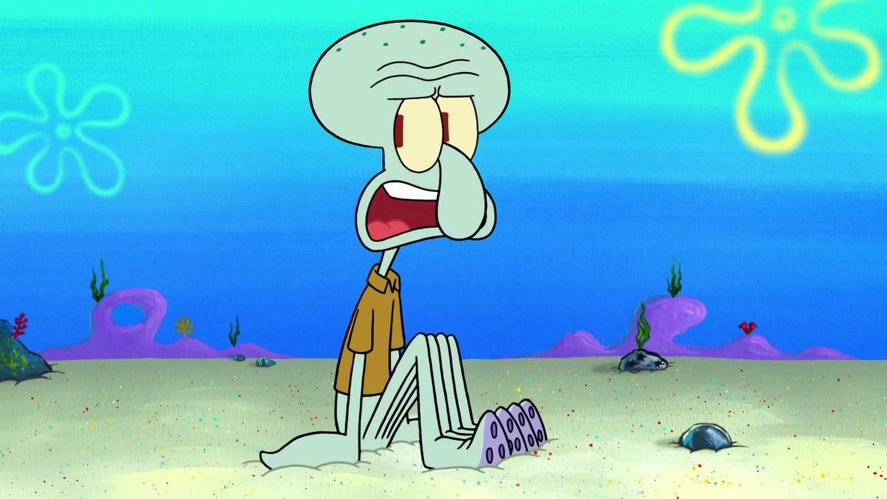 "Squidward Tentacles, a main character on Nickelodeon's flagship animated television show, ""SpongeBob SquarePants."""