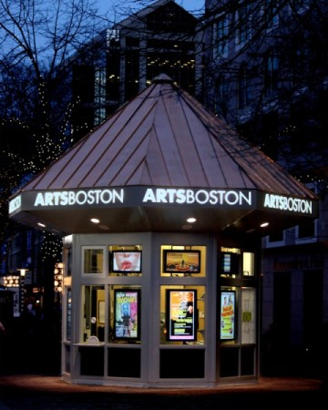 ArtsBoston, which recently hosted an art criticism panel, has a ticket booth outside Faneuil Hall.