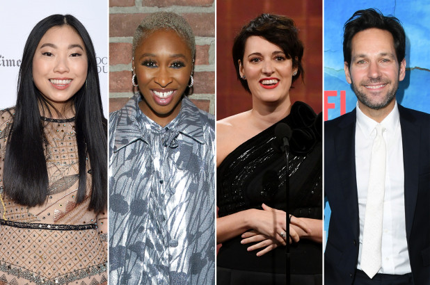 Awkwafina, Cynthia Erivo, Phoebe Waller-Bridge and Paul Rudd, all of whom are first-time nominees for the Golden Globes.