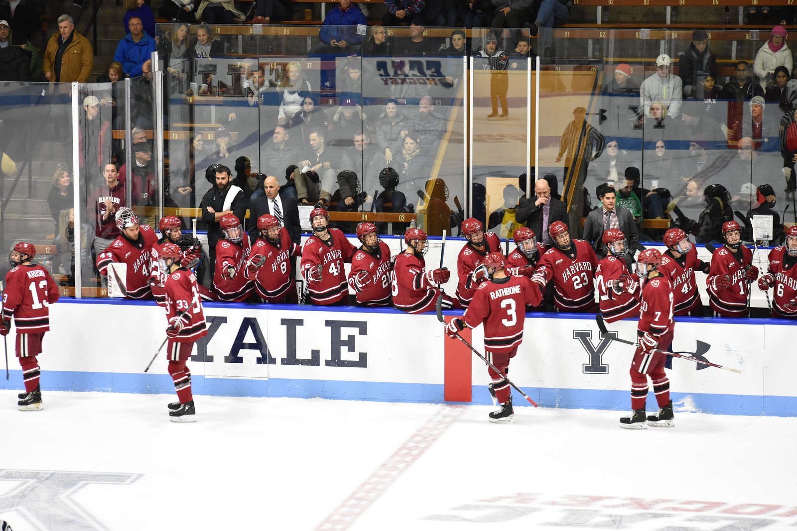 In a mid-November clash, the Crimson handled the Elis to the tune of 6-1. The game, however, was closer than the score would indicate.