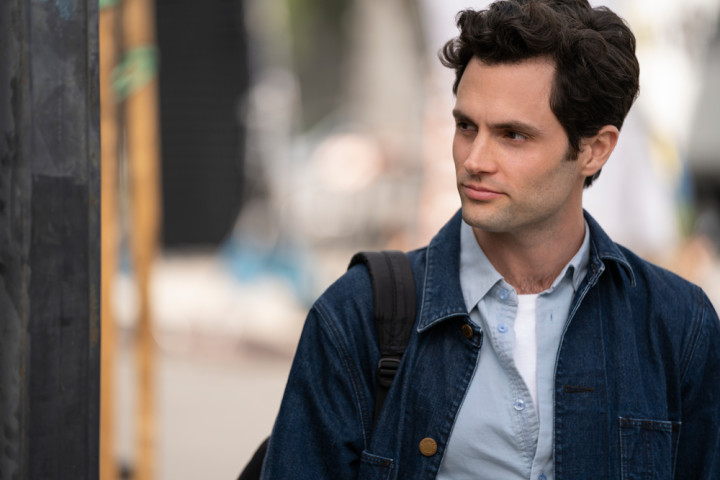 "Penn Badgley playing Joe Goldberg (a.k.a. Will Bettelheim) in Season Two of ""You."""