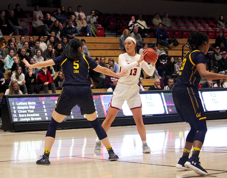Crimson forward Jeannie Boehm had a career night in Harvard's first matchup with Dartmouth, grabbing an impressive 18 rebounds in the loss.
