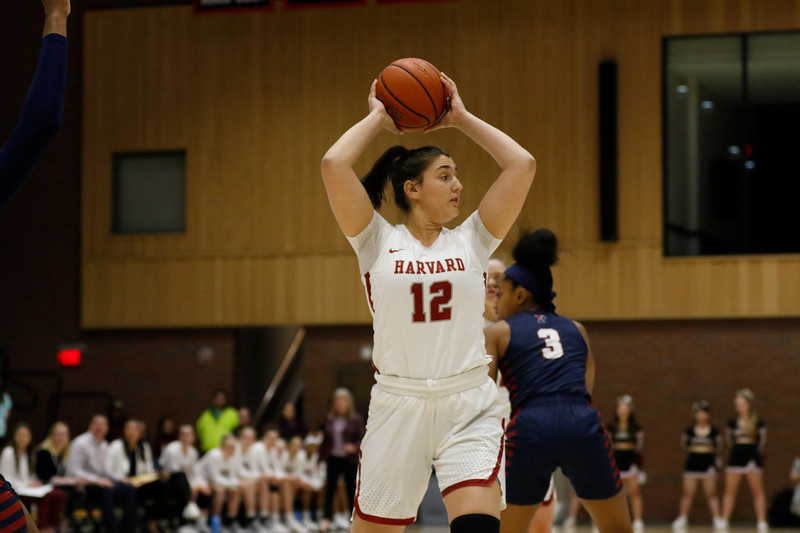 Junior forward Rachel Levy finished with a career game against the Crimson's bitter rival, notching 14 points and grabbing an impressive 19 rebounds against Yale.