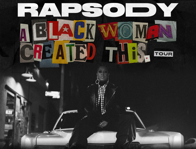 "Banner from Rapsody's ""A Black Woman Created This"" tour."