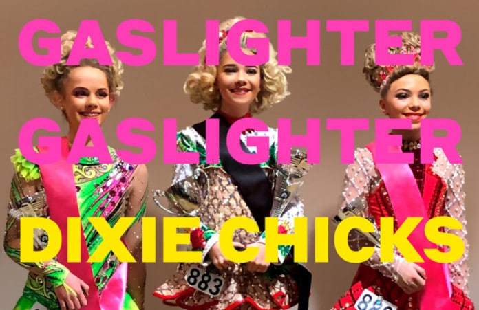 """Promotional still for """"Gaslighter"""" by the Dixie Chicks."""