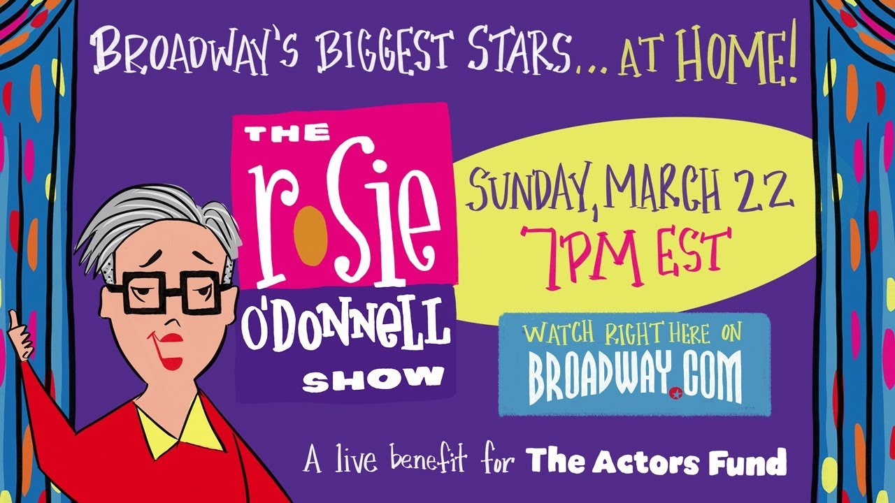 """""""The Rosie O'Donnell Show"""" Benefit for the Actors Fund, graphic by Ryan Casey."""