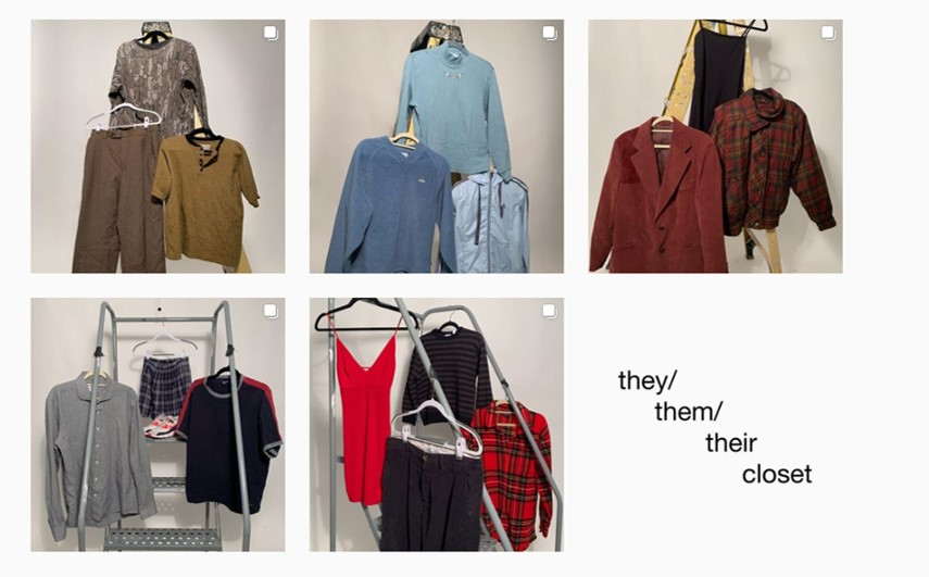 They.Them.Their Closet aims to promote accessibility and inclusion while simultaneously giving Cuadra and Garavito an additional source of income.
