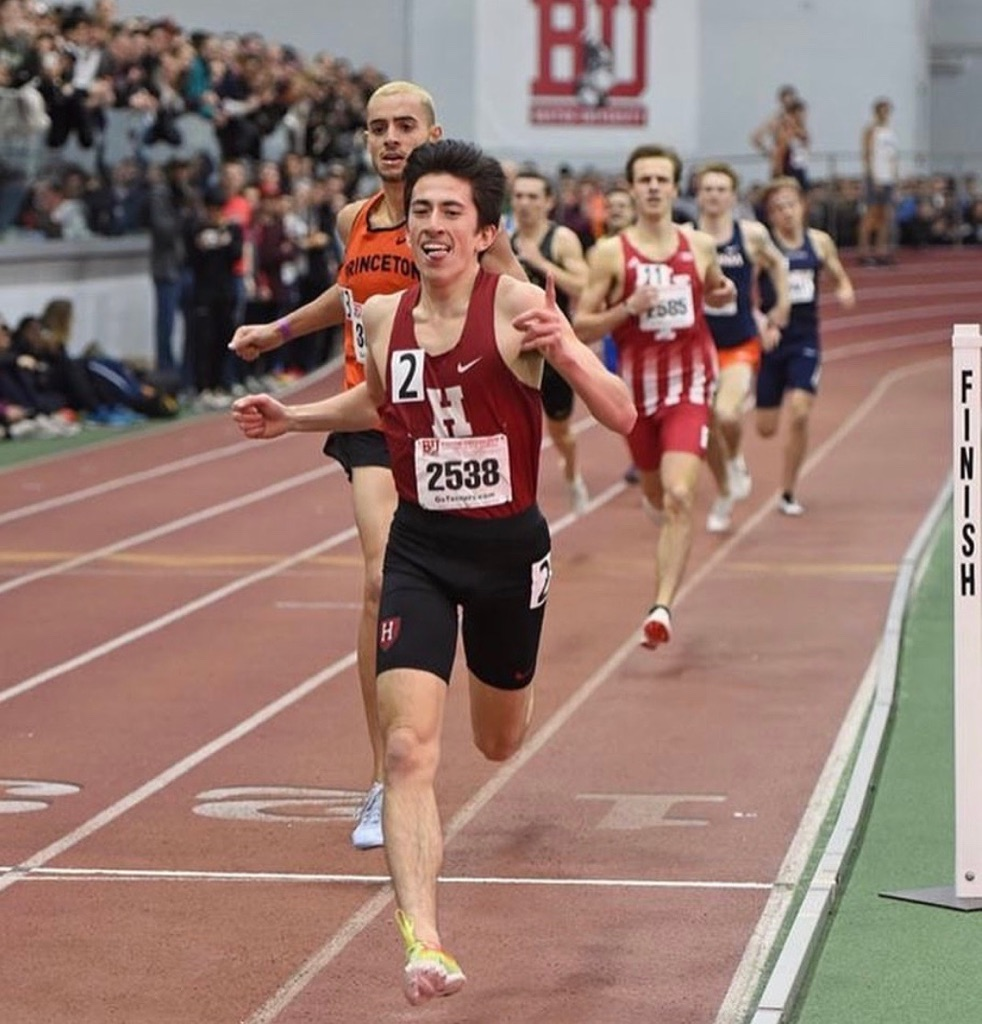 Senior Kieran Tuntivate is all smiles because he can run a sub-four-minute mile.