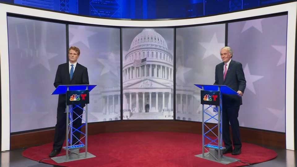 Incumbent U.S. Senator Edward J. Markey (D-Mass.) and U.S. Representative Joseph Kennedy III (D-Mass.) squared off in a debate Sunday night with the primary election over a month away.