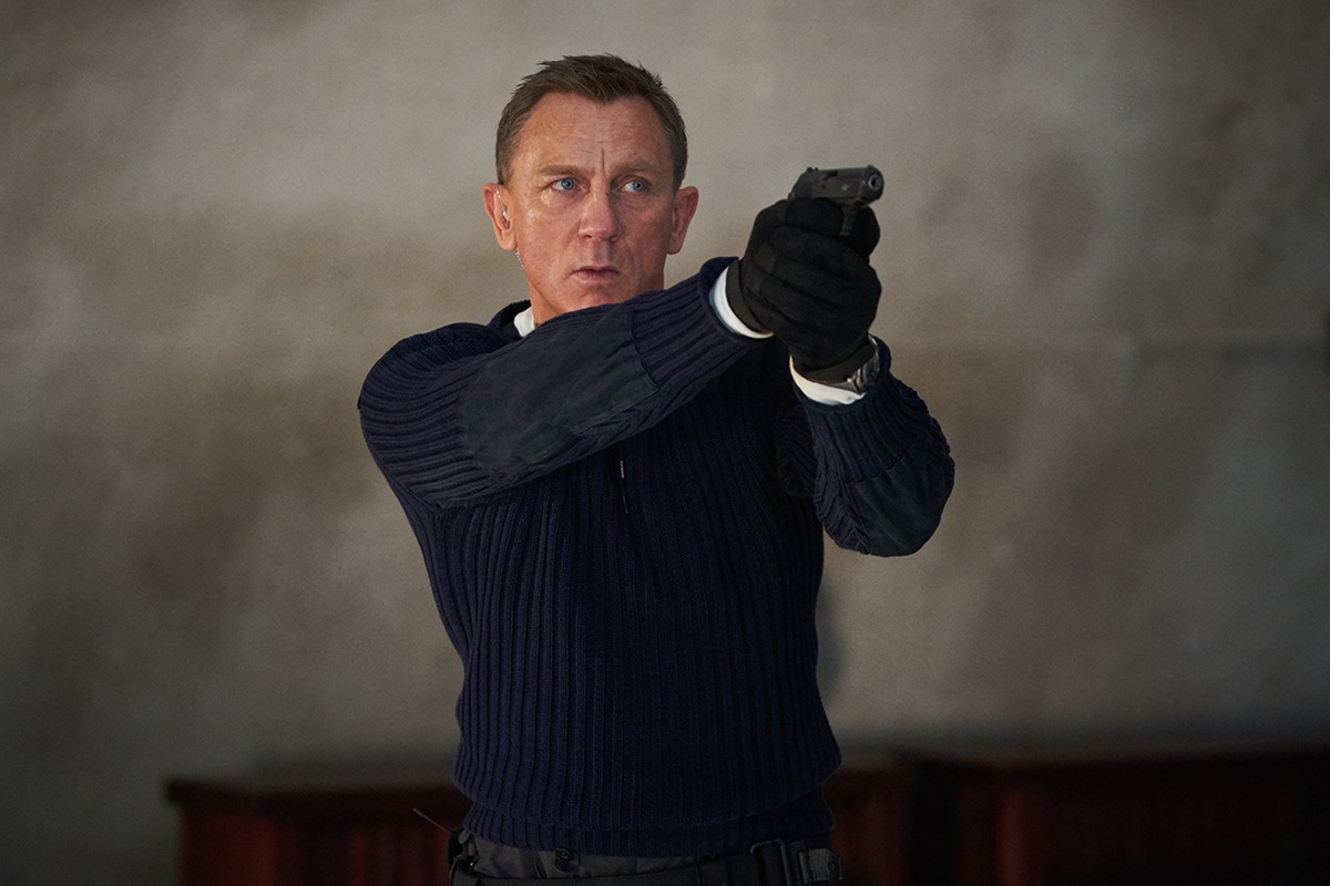 "Daniel Craig stars as James Bond in ""No Time to Die"" (2021), directed by Cary Joji Fukunaga."