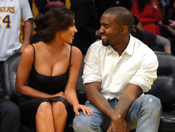 Kim and Kanye, nary a hologram in sight.