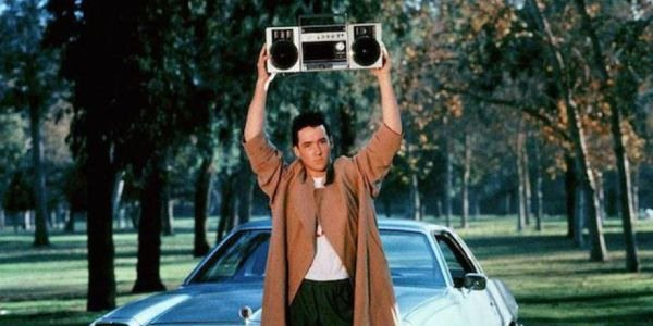The iconic boombox scene from 'Say Anything.'